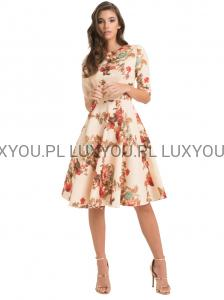 0a790abb83 Chi Chi CAROLINE Premium sukienka midi kwiaty