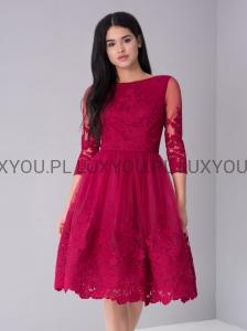 3b3e3d38b9 Chi Chi London Sian sukienka wieczorowa midi haftowana
