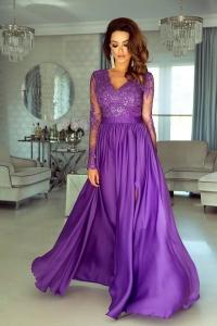 75ac5167a5 EMO sukienka wieczorowa maxi LUNA fioletowa
