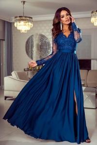7a97fae15e EMO sukienka wieczorowa maxi LUNA petrol