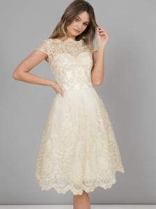 7d40accb74 Chi Chi London Frances sukienka wieczorowa midi rozkloszowana haftowana