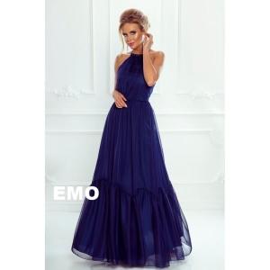 259c02527f EMO sukienka Alissa wieczorowa maxi jedwabna granat