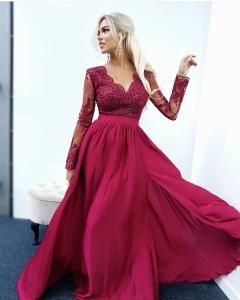 1a2e5bcbae EMO sukienka wieczorowa maxi LUNA bordowa