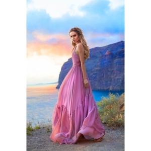 4fcbda8da4 EMO sukienka Alissa wieczorowa maxi zwiewna pudrowy róż