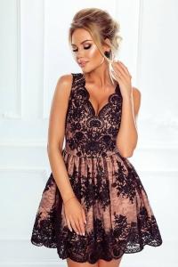 8167b8e98f EMO sukienka wieczorowa CARMEN beżowo-czarna