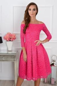 fc1877a4df S.Moriss sukienka Scarlet midi fuksja