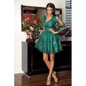 b8424428cd EMO sukienka wieczorowa mini Amelia szmaragdowa