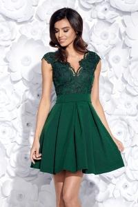 71d8dd209465 Bicotone sukienka wieczorowa mini koronkowa zielona