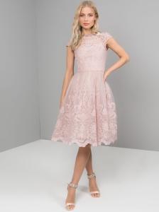 b4b24d8c73 Chi Chi London Liviah sukienka wieczorowa midi rozkloszowana haftowana