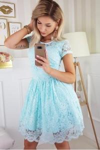 39629e525987 Bicotone sukienka mini koronkowa miętowa