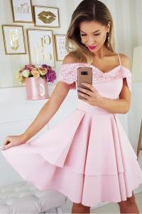 81acef31839b Bico sukienka wieczorowa mini koronkowa hiszpanka