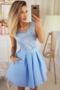3d1b07f563cd Bico sukienka wieczorowa mini koronkowa motylek kieszenie