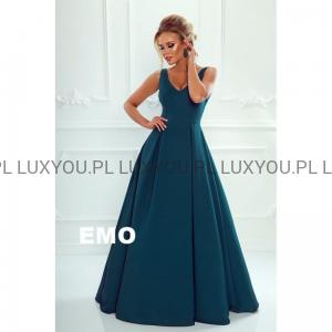 c9f4391431 EMO sukienka wieczorowa maxi Klaudia butelkowa zieleń