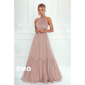 183a05d91f EMO sukienka Alissa wieczorowa maxi zwiewna beżowa