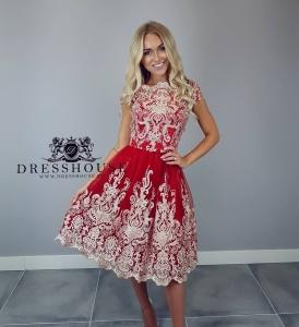 4ebc34d3b0a0b8 Chi Chi CIARA Premium sukienka wieczorowa midi haftowana koronka