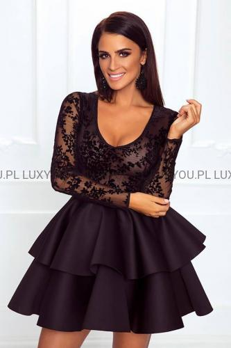 f5c536e6bf EMO sukienka wieczorowa mini LILI czarna