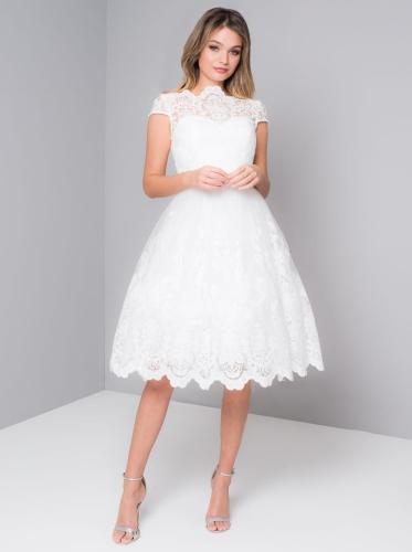 0bf99f7543 Chi Chi London AERIN sukienka wieczorowa midi rozkloszowana haftowana