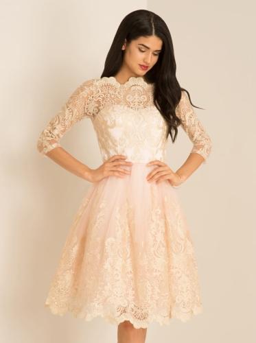 a73cc4184d Chi Chi Clothing SHARNIE sukienka wieczorowa midi rozkloszowana tiul  metaliczny haft