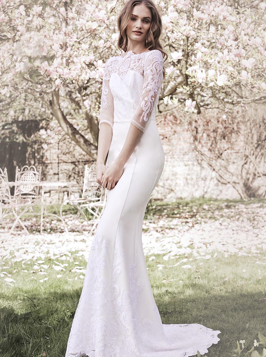 Bardzo dobryFantastyczny Chi Chi London Kate suknia ślubna maxi koronkowa syrenka | LUXYOU.PL SG16