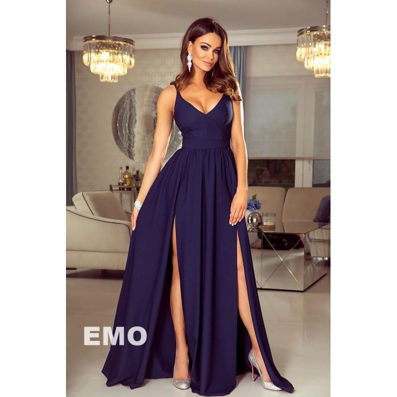 8274a9776e EMO sukienka wieczorowa maxi NINA granatowa
