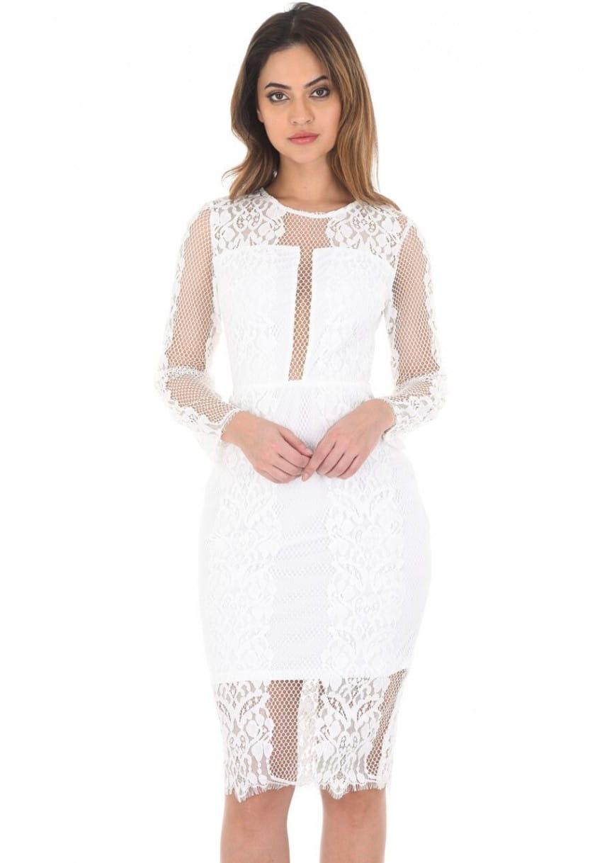 9b2c015a3e Ax Paris sukienka midi ołówkowa koronkowa