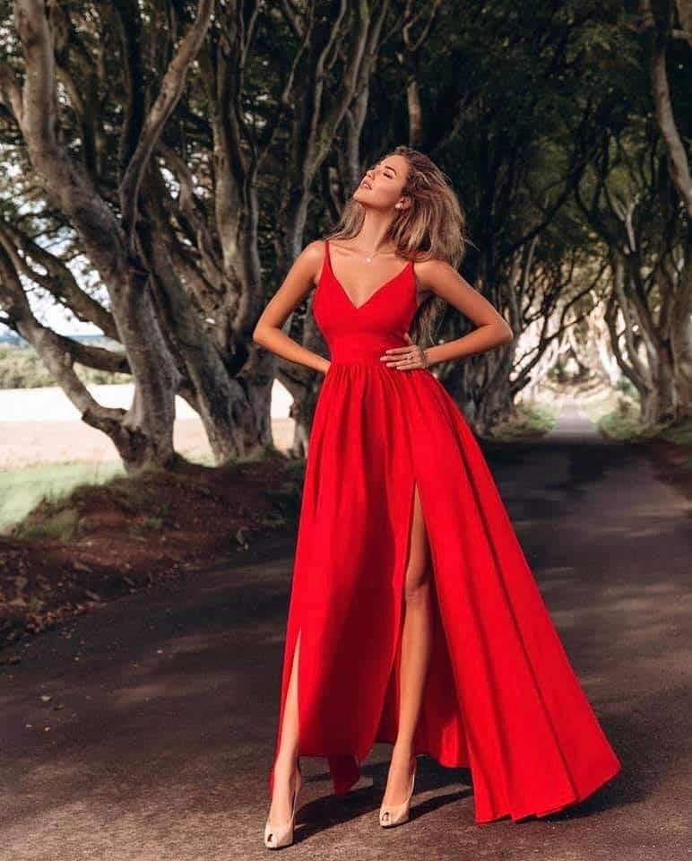 EMO sukienka wieczorowa maxi NINA czerwona
