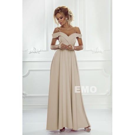 72918e4eff EMO sukienka wieczorowa maxi ELIZABETH beżowa