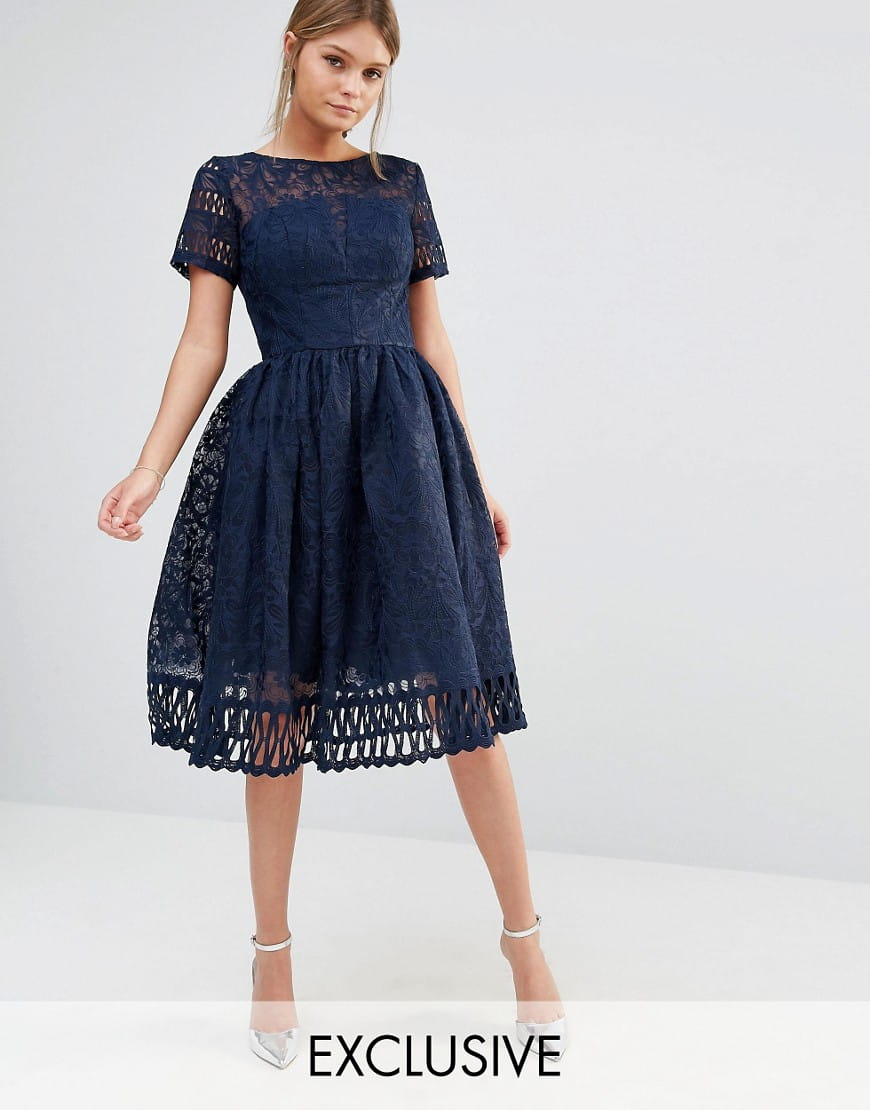 Chi Chi London Sheridan Sukienka Wieczorowa Midi Koronkowa
