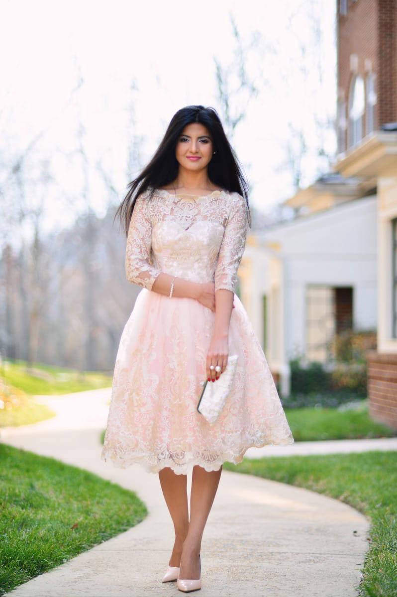 92cb49f905b5 Chi Chi Clothing SHARNIE sukienka wieczorowa midi rozkloszowana tiul  metaliczny haft
