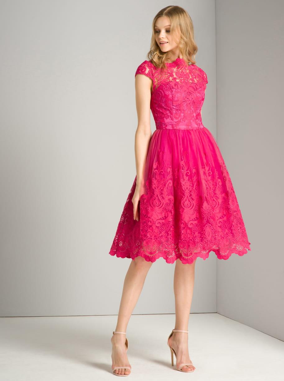 cd6661d65c Chi Chi London SUKI sukienka wieczorowa midi rozkloszowana haftowana ...