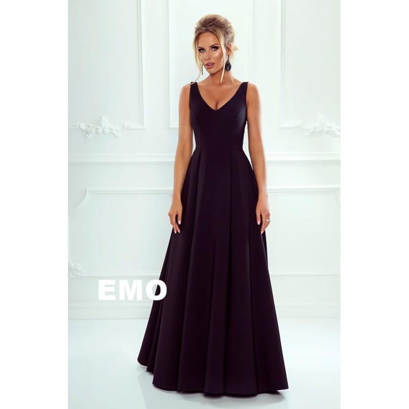 64403cbf74 EMO sukienka wieczorowa maxi Klaudia czarny
