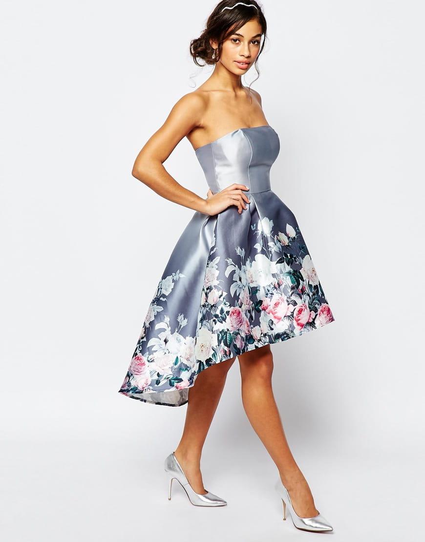 3fb15823aa Chi Chi London CORINNA sukienka wieczorowa midi kwiaty rozkloszowana ...