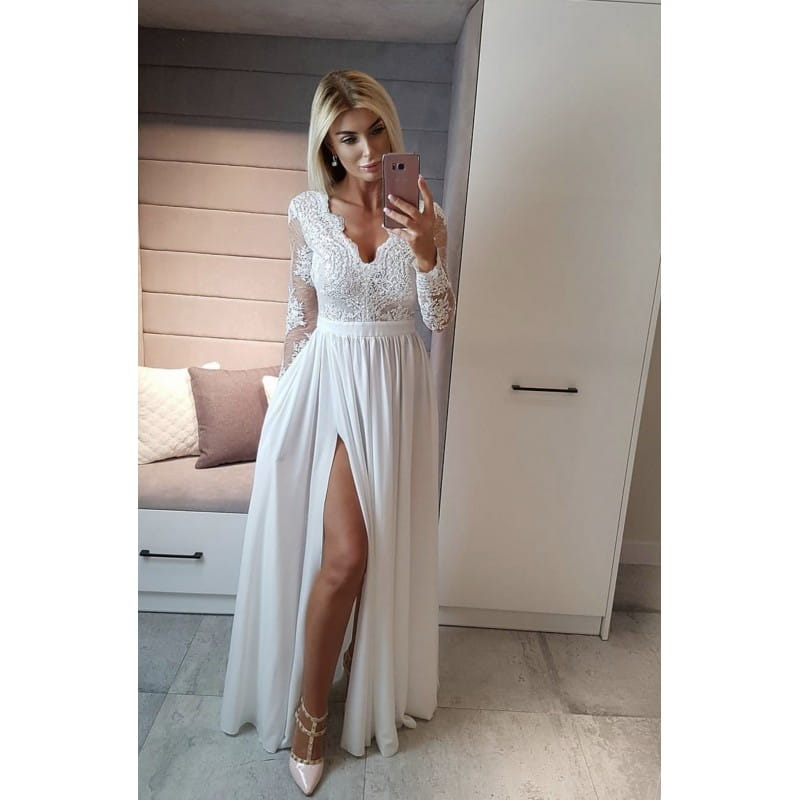 EMO sukienka wieczorowa maxi LUNA biała