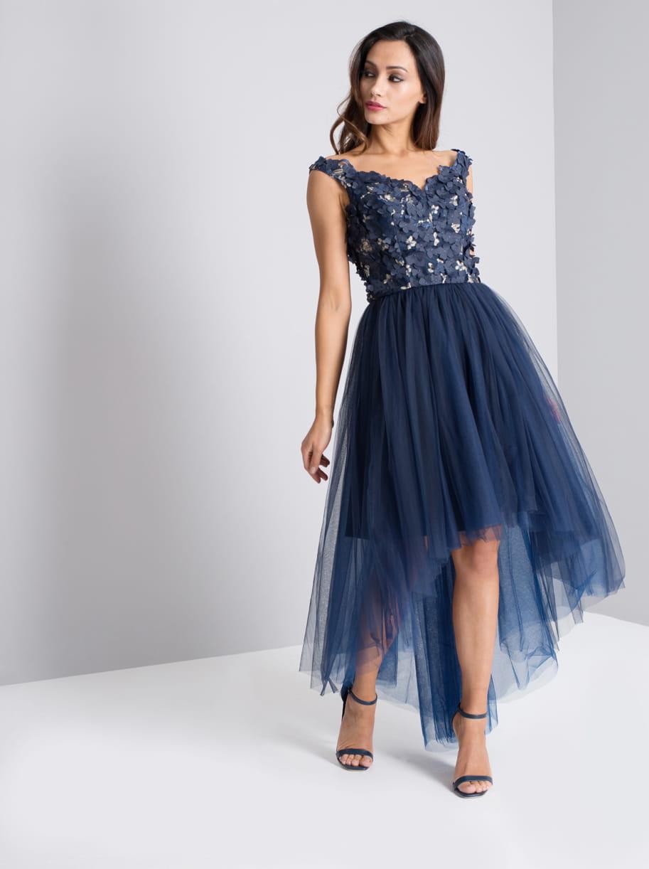 6e4df886 Chi Chi London BRONWYN sukienka wieczorowa midi tiul