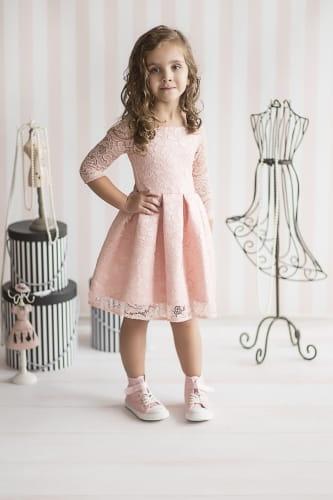 897cd3c9de S.Moriss sukienka Scarlet KIDS pudrowy róż