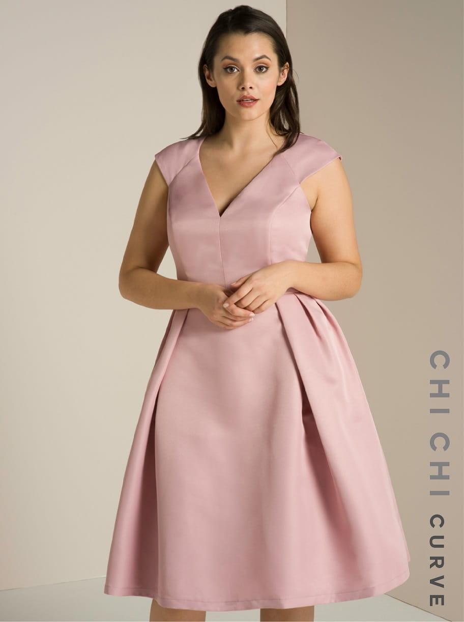 11d614a1b0 Chi Chi London PLUS SIZE MAY sukienka midi rozkloszowana